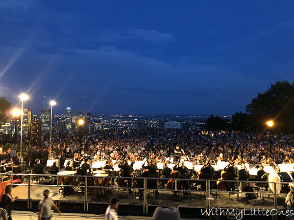 The Montreal Symphony Orchestra playing at Mont Royal